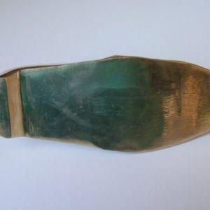 Accents - Vintage brass shoe ash tray (#EV647)